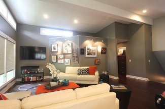 A versatile art wall was important to these clients.