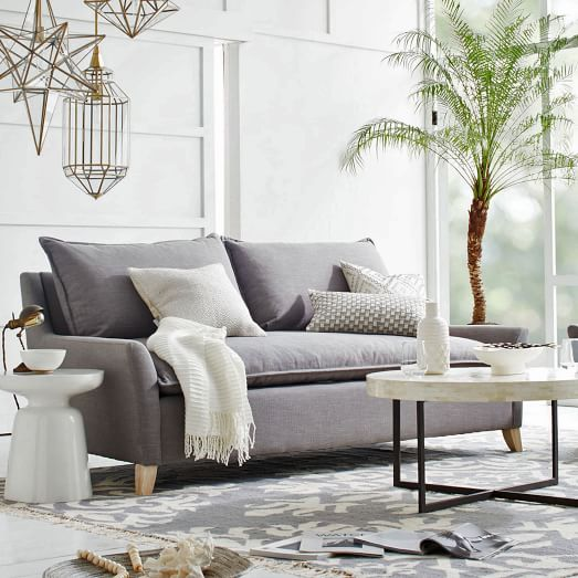 This Bliss down-filled sofa will give you a statement piece as well as bliss.